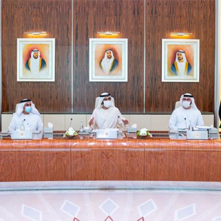 Mohammed bin Rashid Chairs the First Physical Meeting of the Cabinet
